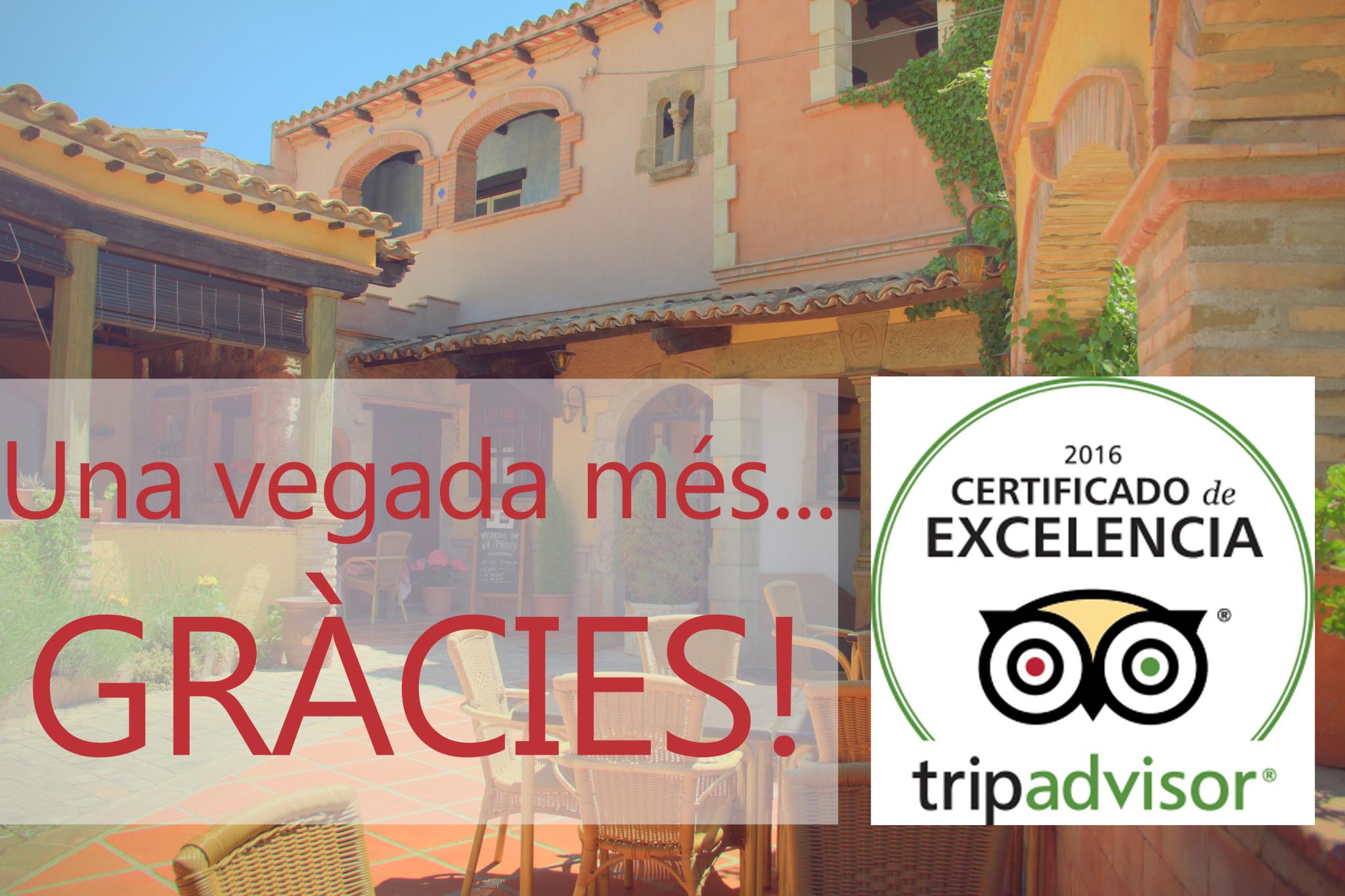 certificat excel·lencia tripadvisor 2016